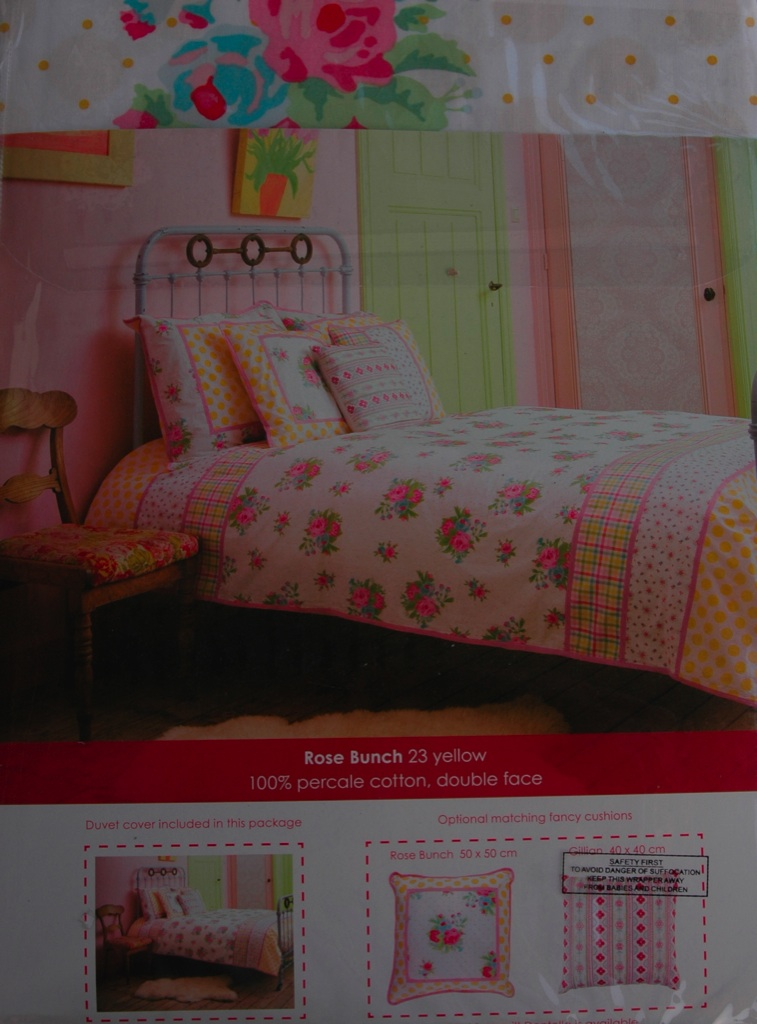 room seven bettw sche 135 x 200 rose bunch yellow neu ebay. Black Bedroom Furniture Sets. Home Design Ideas