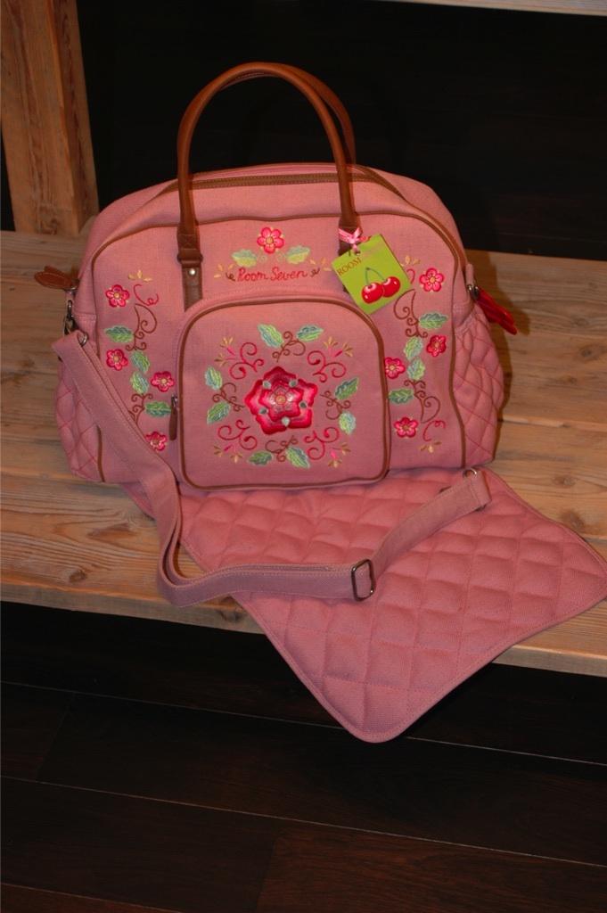 room seven wickeltasche floral diaper bag neu ebay. Black Bedroom Furniture Sets. Home Design Ideas